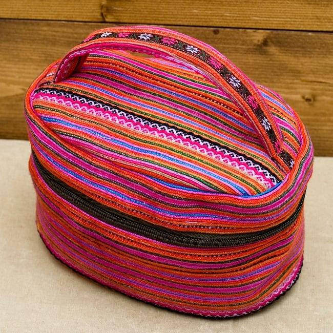 モン族刺繍のメイクボックス- ピンク系アソート 2 - モン族刺繍ががとても可愛く美しいです