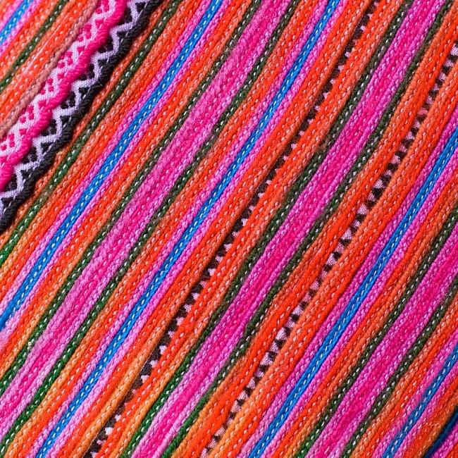モン族刺繍のメイクボックス- ピンク系アソート 3 - 刺繍のアップです。