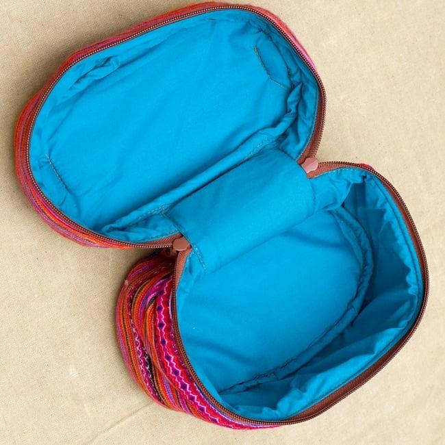 モン族刺繍のメイクボックス- ピンク系アソート 4 - 大きく口が開いてとっても使いやすいです^^