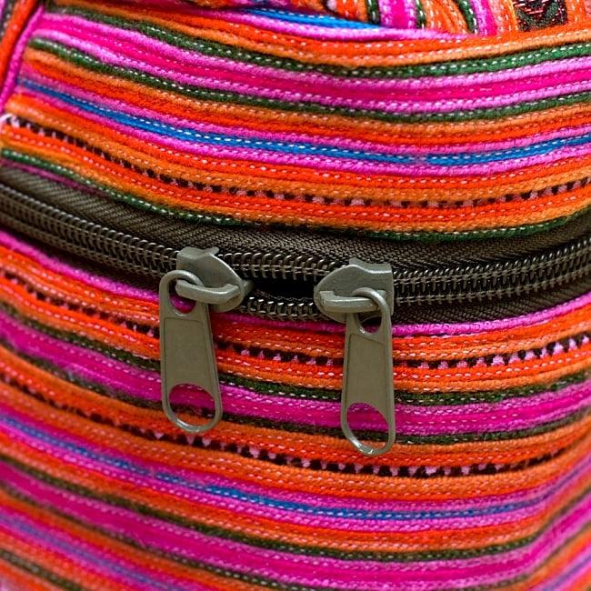 モン族刺繍のメイクボックス- ピンク系アソート 7 - Wジップで便利です!