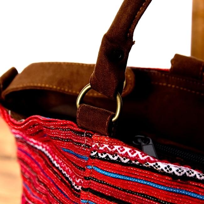 モン族刺繍の2WAYバッグ 5 - 持ちてもしっかりとした作りです。