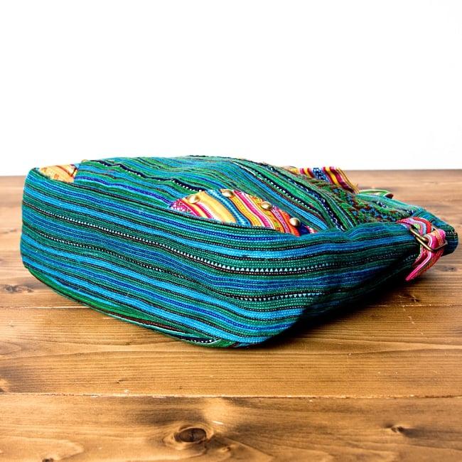 モン族刺繍のトートバッグ 8 - 底部分です。