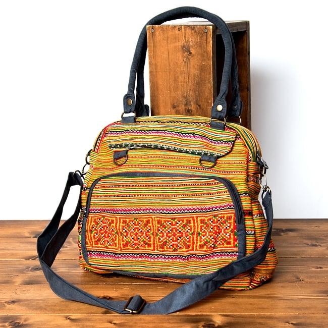 モン族刺繍の2WAYショルダーバッグの写真