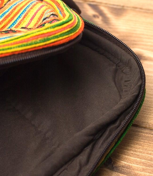 モン族刺繍のラップトップケース - オレンジ系 9 - 縫い目はすべて綺麗&丈夫に処理されています