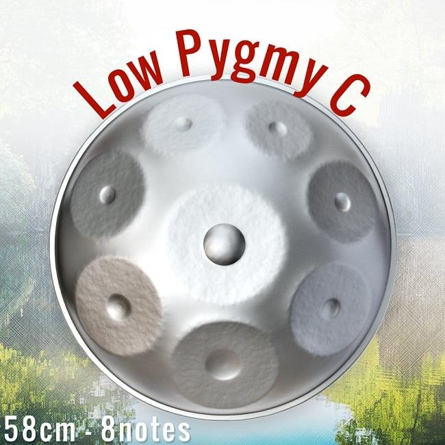 ハンドパン Low Pygmy C【58cm - 8notes】 -ソフトケース付属の写真