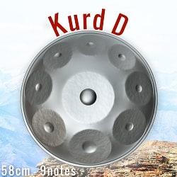 ハンドパン Kurd D【58cm - 9notes】 -ソフトケース付属