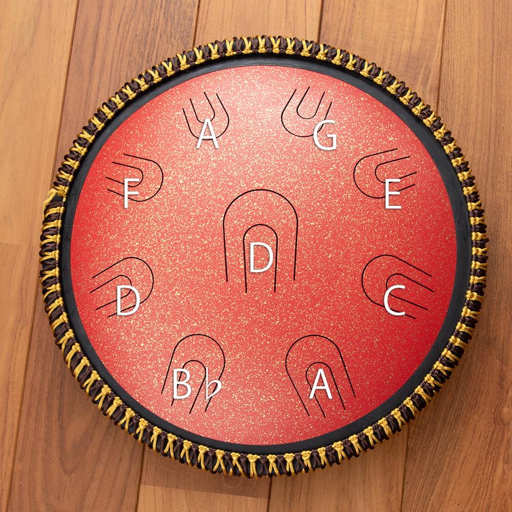 スティール・タン・ドラム 2 - 音階表になります。