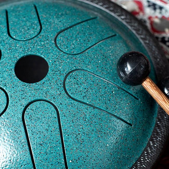 スティール・スリットドラム 6音 気軽に楽しく鳴らせるタンドラム 6 - 拡大写真です