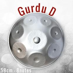 ハンドパン Gurdu D【58cm - 8notes】 -ソフトケース付属