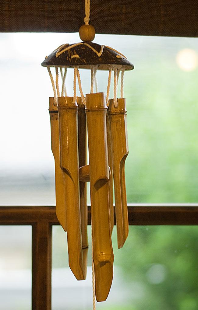 竹とココナッツの風鈴(中サイズ)の写真