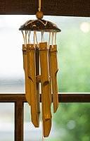 竹とココナッツの風鈴(中サイズ