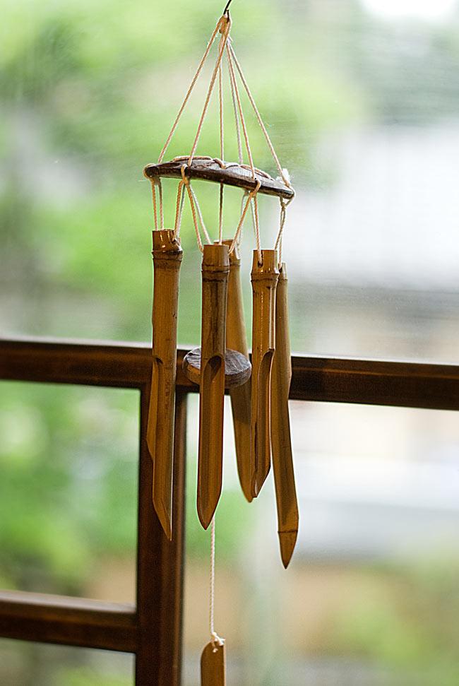 竹とココナッツの風鈴(小サイズ)の写真