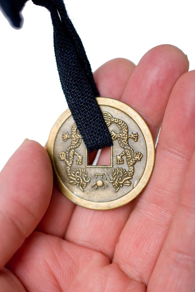 ベトナムのモン族刺繍レターホルダー 10 - コインを見てみました。