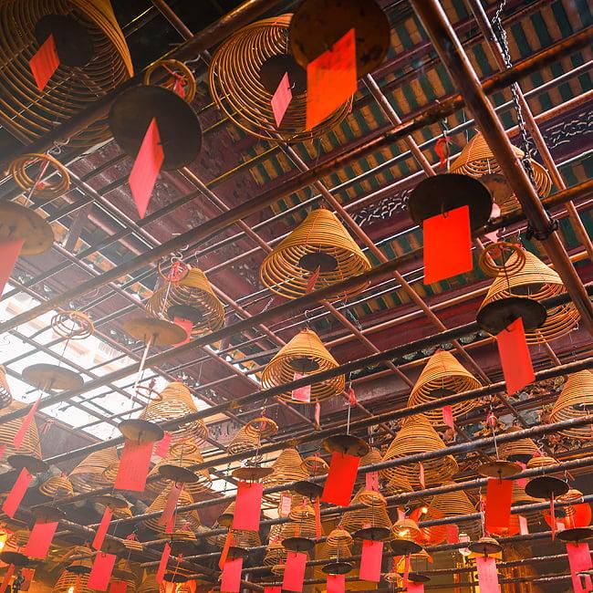 一週間燃え続ける アジアの渦巻き お香 - 35cm 4 - 香港のお寺ではこの様に使われています