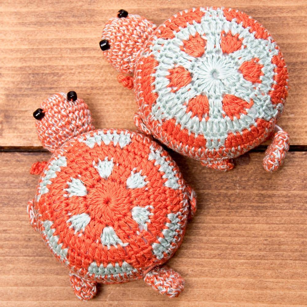 尻尾が伸びる!亀さんメジャー センチとインチが測れる巻き尺 26 - 選択2:オレンジ×水色系