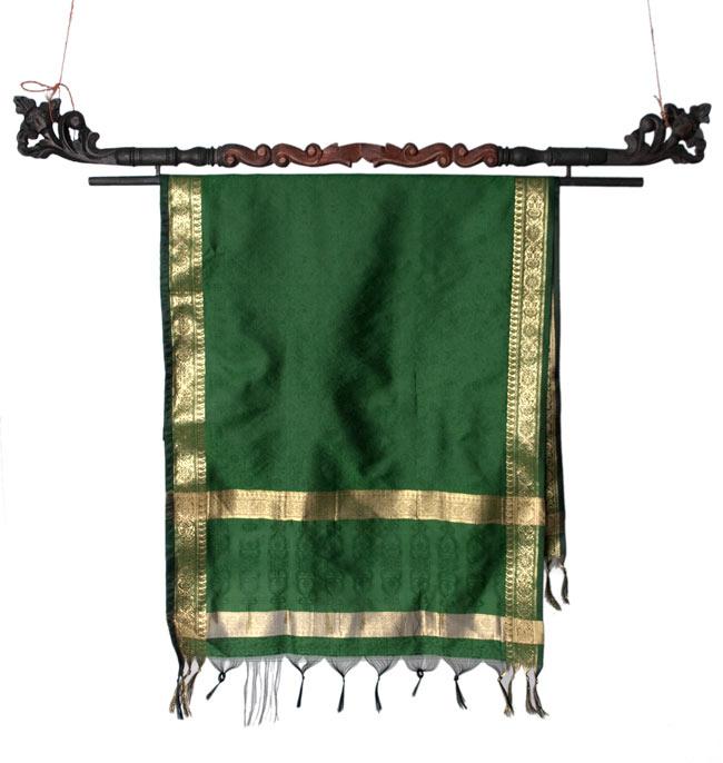 バリのエスニックハンガー - 60cmの写真7 - 一番大きな100cmサイズのハンガーに布をかけてみたところです